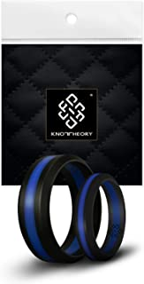 Silicone Wedding Ring Band for Men Women: Superior Non Bulky Rubber Rings - Premium Quality, Style, Comfort - Ideal Bands for Gym, Work, Hunting, Sports, and Travels