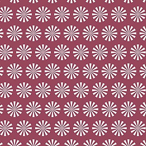 LILENO HOME Tischdecke abwaschbar als Meterware 100x140cm (Schnittkante) in Kabuki Beere - Baumwolle Tischdecke wasserdicht mit Fleckschutz (100% Baumwoll-Polyester Gewebe Tischdecke)