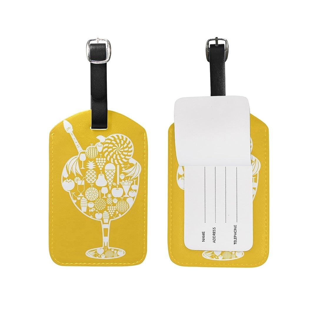 内部アレルギー性めったに黄色い果物荷物をトランクラベルリュックサックスーツケース キッズ ジュニアID 旅行用品(2pcs)