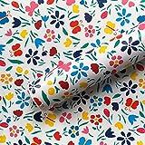 Taogift Película de Vinilo autoadhesiva Papel Tapiz de Mariposa Floral Decorativo Muebles Etiqueta de la Pared Estante de Papel Cajón Forro para gabinetes de Cocina Armarios Mesa de tocador 45CMx3M