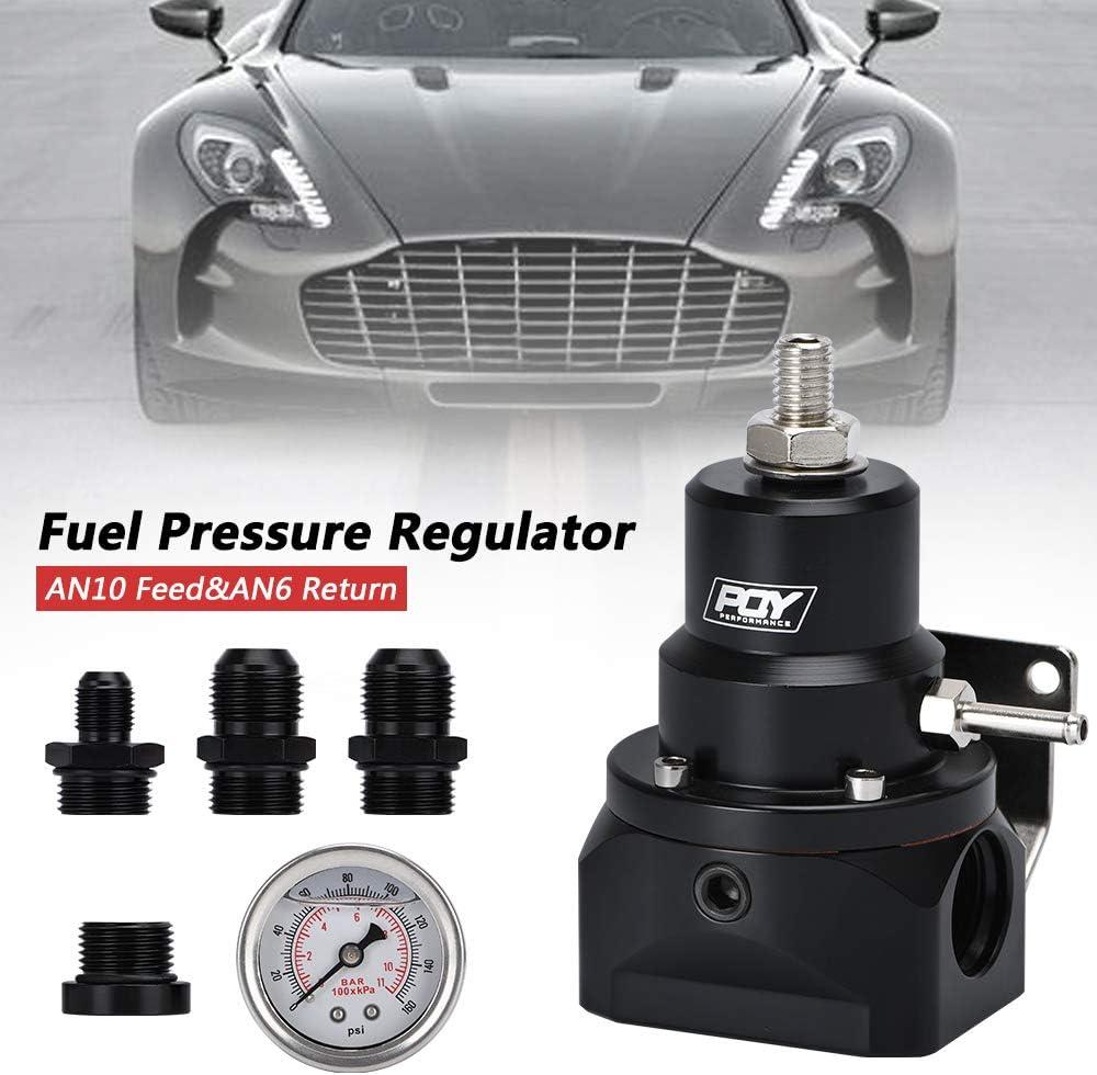PQY Fuel Pressure Regulator with Gauge Li Feed Return Max Max 69% OFF 70% OFF AN6 AN10