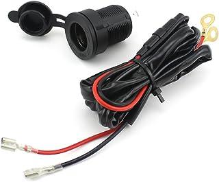 Foxnovo CS 007 Motorrad Steckdose, Zigarettenanzünder, 12°V, mit 1,5°m Kabel, für Navi/Handy/MP3 Player, wasserdicht, Schwarz