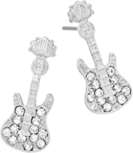 Liavy's Electric Guitar Fashionable Earrings - Stud - Sparkling Crystal - Unique Gift and Souvenir - 2 Colors