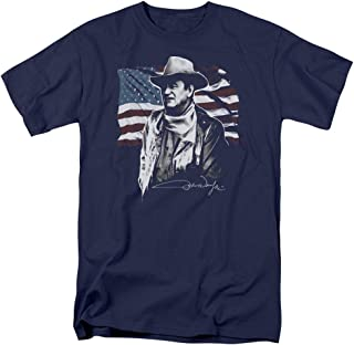 John Wayne The Duke American Idol Icon Adult Mens T-Shirt Navy Blue