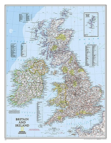 Britain And Ireland Laminated Flat Map: Wall Maps Countries & Regions