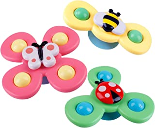 HDHF 3PCS Suction Cup Spinning Top Toy, Sucker Spin Toy Window Spinners Suction Toys