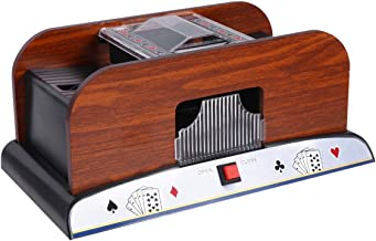 CLISPEED Two Deck Automatic Card Shuffler Electronic Mixing Machine to Shuffle Playing Cards Battery Operated for Bridge P...