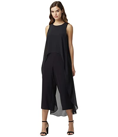 Tahari by ASL Short Sleeve Fly Away Jumpsuit (Black) Women