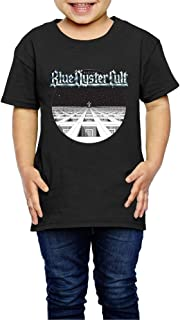 UrsulaA Children's Blue Oyster Cult Cotton Tees for Girls/Boys Tee Black