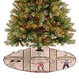 Homesonne Alfombrilla para árbol de Navidad, diseño de personajes de circo, acrobat barbuda, gimnast...