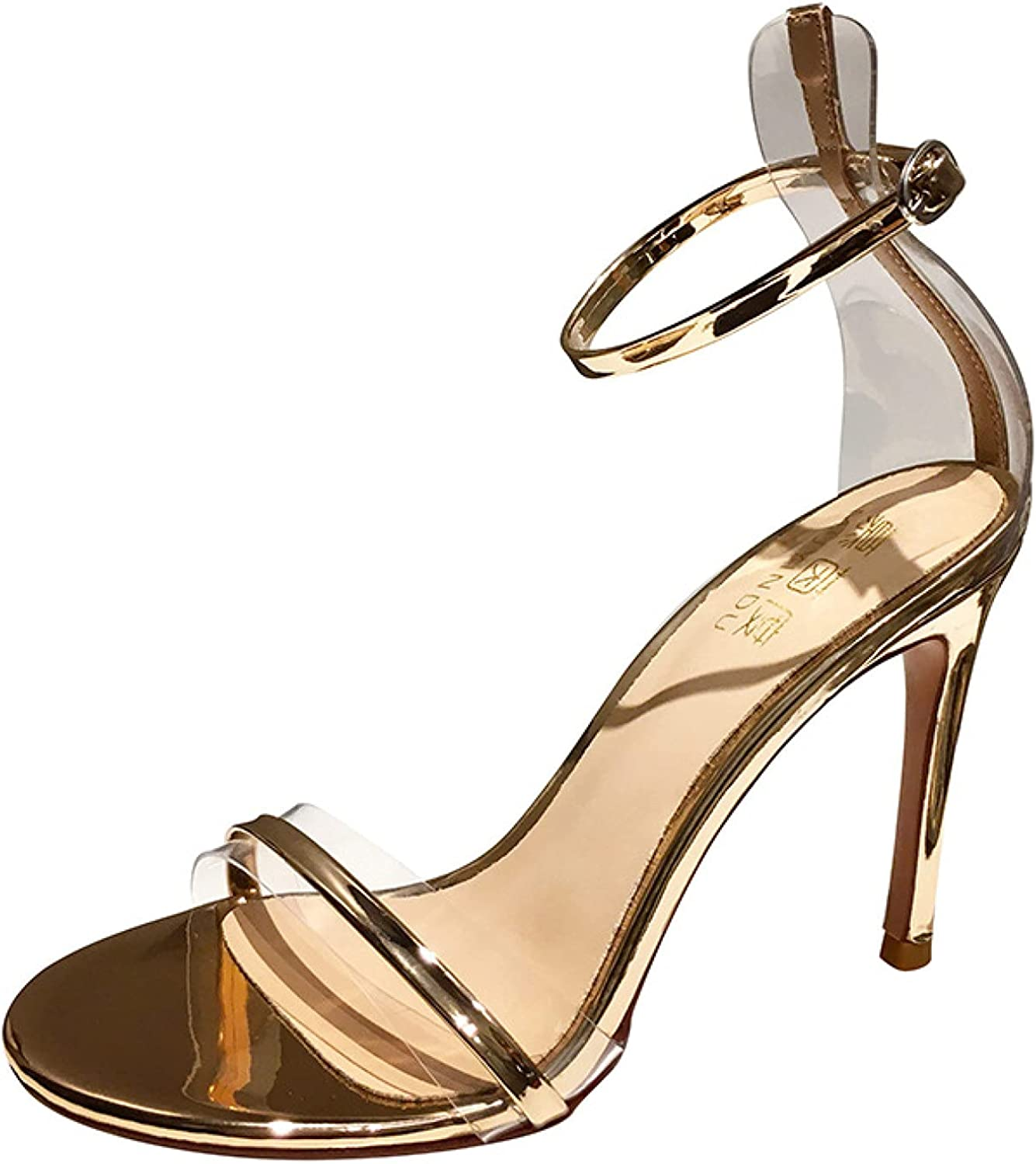 Many Memphis Mall popular brands Women Fashion Heeled Sandals Clear Ankle Stiletto Strap High Hee