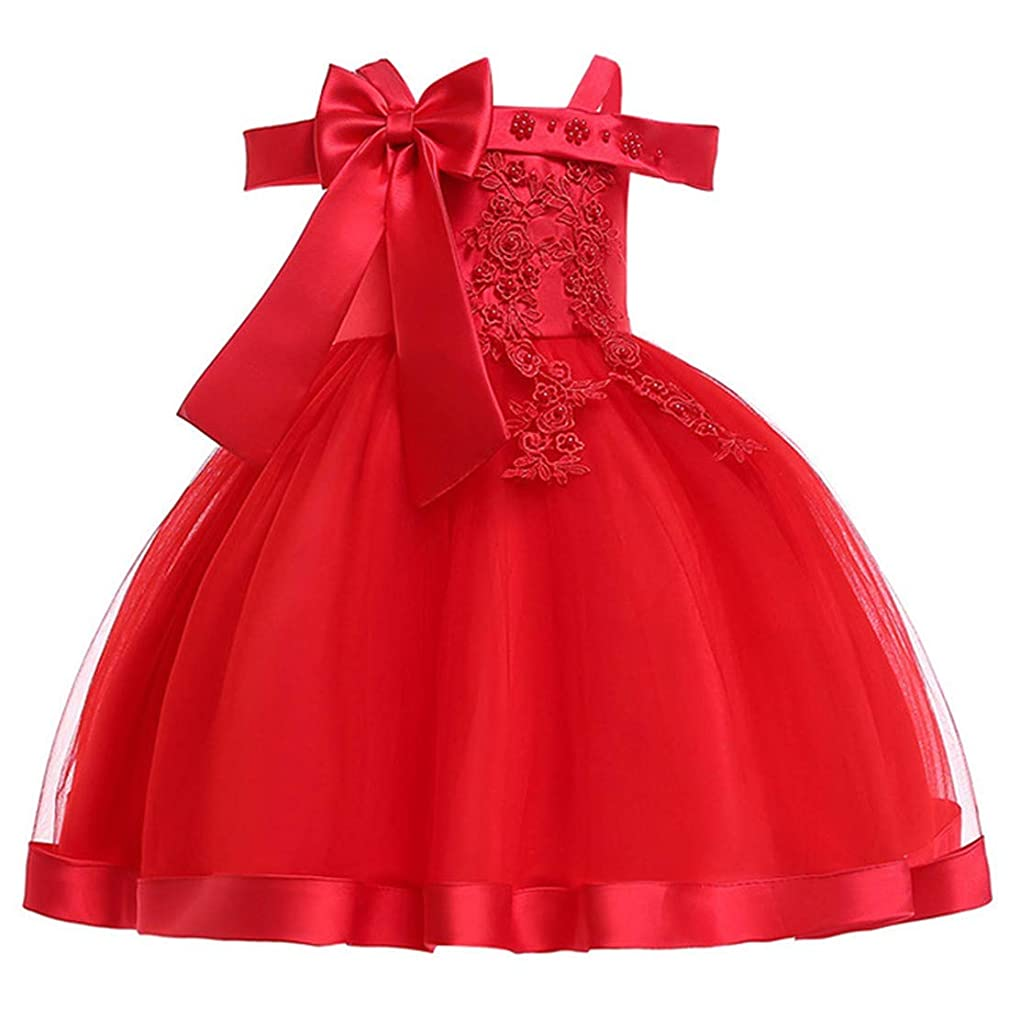 Tueenhuge Girls Flower Pageant Dresses Sequin Ruffles Tulle Party Dress