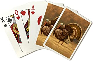 Turkey - Thanksgiving Oil Painting (Playing Card Deck - 52 Card Poker Size with Jokers)