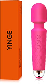YINGE Mini Wand Massager for Women/Man with Powerful Vibrating Small Cordless Handheld Personal Waterproof Deep Tissue Therapeutic Massage Body Neck Foot …