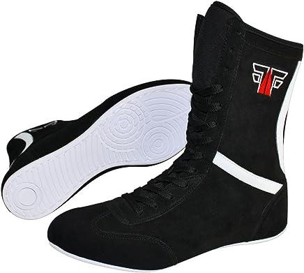 8162192ea80b96 Fox Chaussures de Fight Cuir Boxing boxst iefel boxschuhe Box Hog Boser  Bottes/Noir