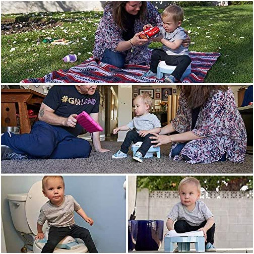 Portable Potty and Training Seat with Free Travel Bag for Toddlers (Sky Blue) by GuGu Tots 4