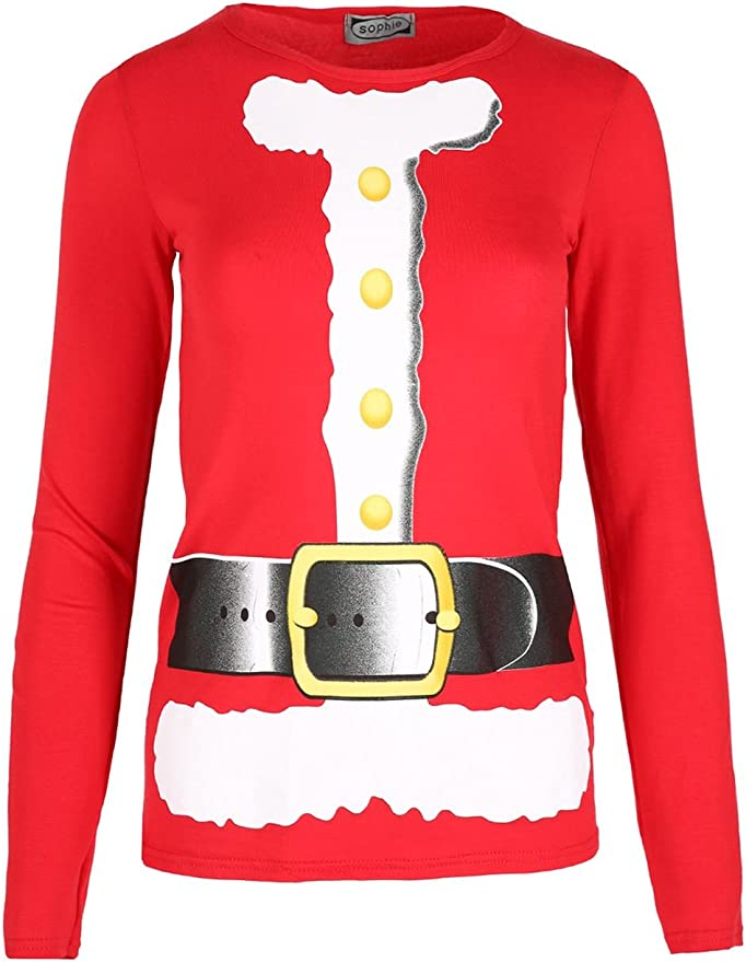 Be Jealous Womens Xmas Belted Elf Costume Cap Sleeve T-Shirt