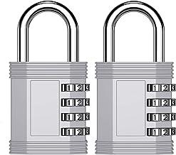 Fechadura de combinação ZHEGE, código de número de 4 dígitos para cadeado de academia, cadeado escolar, cadeado de armári...