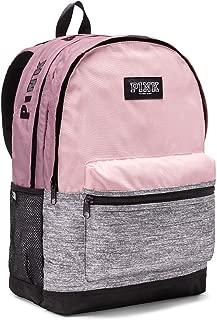 Victoria's Secret Pink Campus Backpack Chalk Rose Black Logos, Medium