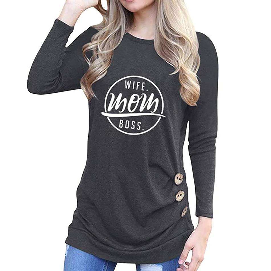 Clearance Women Blouse COPPEN Autumn Winter Long Sleeve Round Neck Loose Tank T-Shirt
