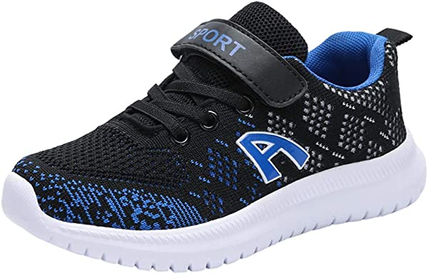 Kuaneus Girls Boys Colorful Tennis Sneakers Breathable Lightweight Soft Baseball Athletic Sport Shoes Little Kid Big Kid