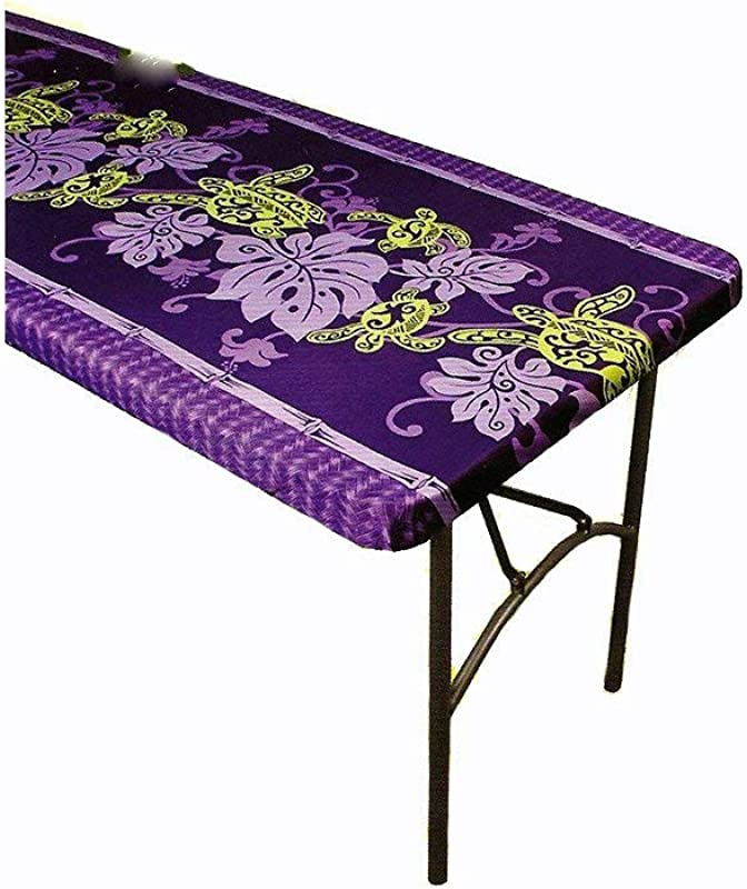 Hawaiian Tropical Picnic Tablecloth Fitted 5 Feet Picnic Tables 60x27 Spicing Up Any Party