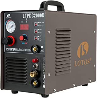 Lotos LTPDC2000D Non-Touch Pilot Arc Plasma Cutter Tig Welder and Stick Welder 3 in 1..