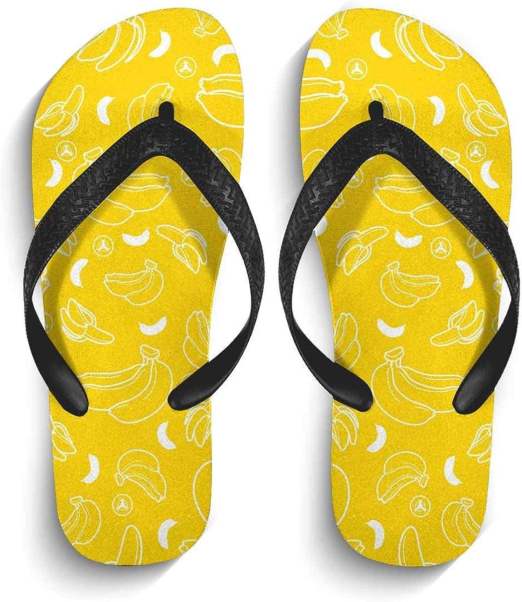 INTERESTPRINT Non-Slip Flip Flop Slippers Baby Dinosaur Black Straps Slim Thong Sandal for Men