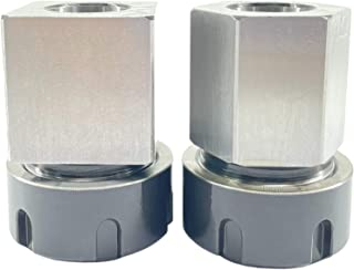 ALTBET ER-32 Collet Chucks Block Set of 2 Square and Hex Workholding Holder for CNC Lathe Engraving Cutting Machine