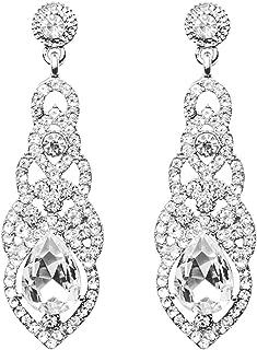 Jarrel Rhinestone Dangle Earrings Drop Sparkling Crystal Earrings for Women Girls