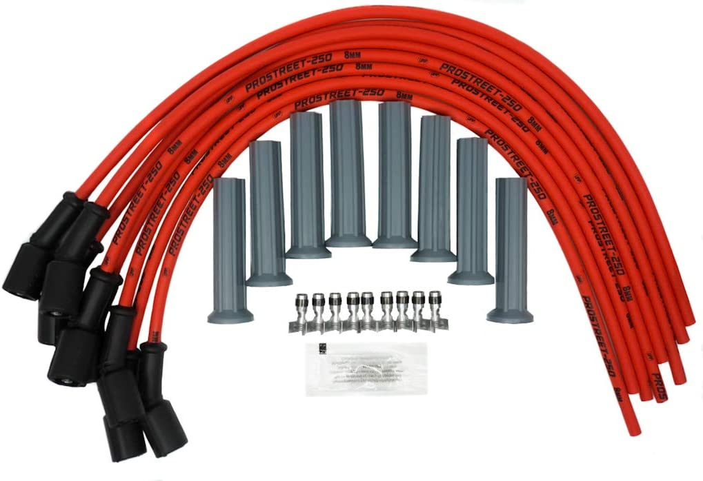 UPP - PROSTREET 250 Red 8mm Racing Performance High Silicone Very popular U Max 40% OFF
