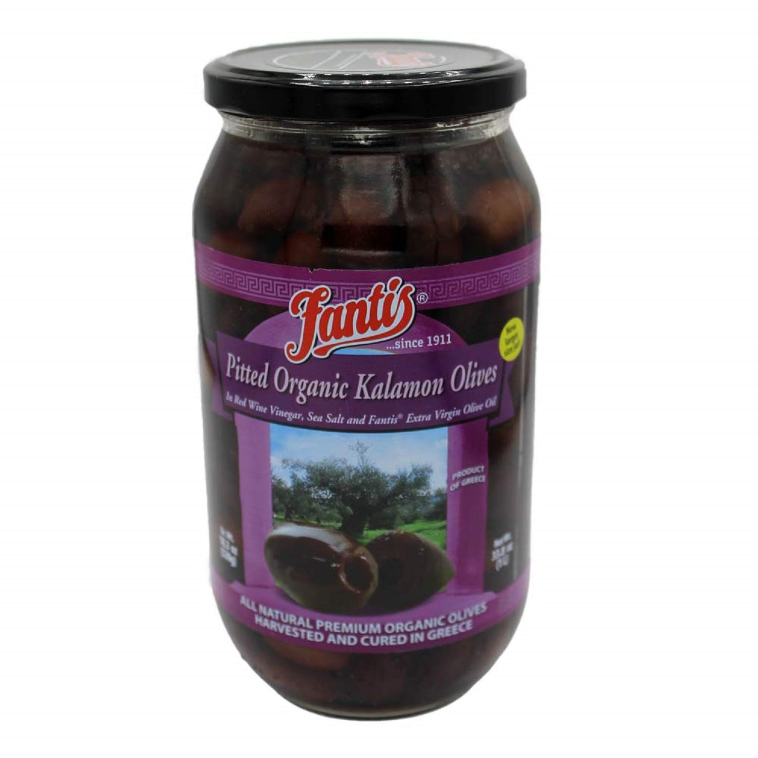 Fantis Kalamata Pitted Milwaukee Mall Organic glass jar Special Campaign 1L Olives