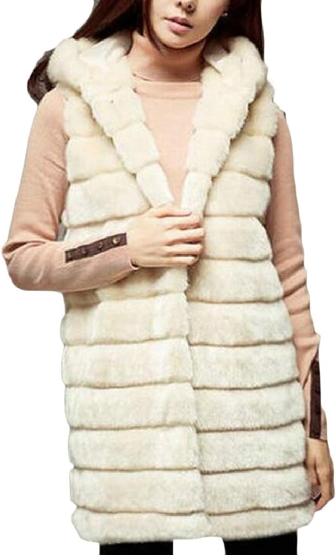 TymhgtCA Women's Thicken Hoodies FauxFur Overcoat Tank Parka Vest Jackets