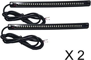 Kingshowstar 2X 20cm 32led PVC Strip Universal Motorcycle Bike Amber LED Turn Signal Indicator Blinker Light 12v