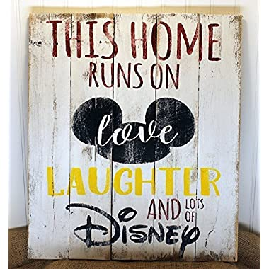 Disney Quote Reclaimed Wood Pallet Sign Home Decor 17x20