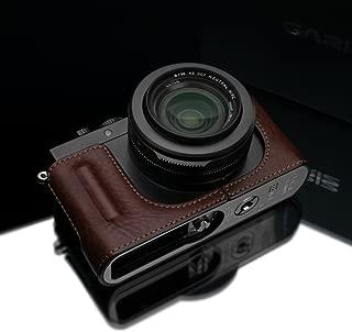 Gariz Genuine Leather HG-DLUXBR Camera Metal Half Case for Leica DLUX D-LUX7 (Typ 109), Brown