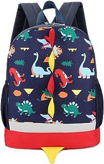 3D Dinosaurio Mochila Infantil Niño Mochilas Escolares Juveniles Dinosaurio Patrón Animales Guardería Mochila viaje bolsos Primaria Bolsa de la escuela (Azul Marino)