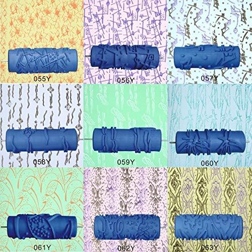 GYW-YW 1 unids 5'Decoración de Papel Tapiz con Estampado de Rodillos en Relieve Rodillo de Goma Rodillo de Rodillo de la Pared Textura de la Pared Stencil Cepillo Patrón 3D Decoración