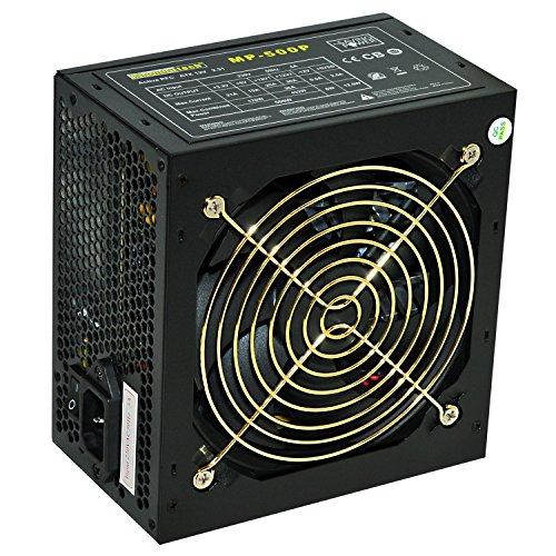 Rhombutech® 500 Watt PC-Netzteil ATX - Gaming - Saving Power - Effizient bis zu 84{c7007809d746686b7daab1839ea46588f40879290f5aacdc07c48099393e66b3} - Aktiv PFC (MP-500)