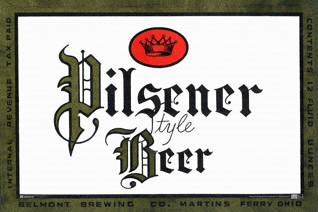 Belmont Brewery Ohio Pilsner Beer Pilsener Style Max Bombing free shipping 73% OFF Vintage Br