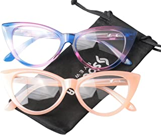 653d93f7bb32 SOOLALA Ladies 50mm Lens Designer Cat Eye Reading Glasses Customized  Strengths