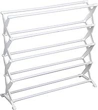 Gadgets Appliances 5 Tier Foldable Fiber Shoe Rack 16 Pair (White)