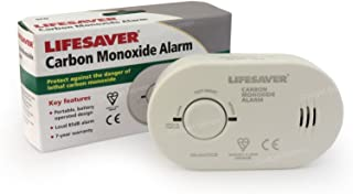 Kidde 5colsb detector de monóxido de carbono alarma funciona con pilas larga duración sensor electroquímico con prueba y reinicio BSI y certificado por la CE (7años de garantía)