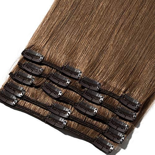 8'-24' Extension a Clip Cheveux Naturel Rajout...