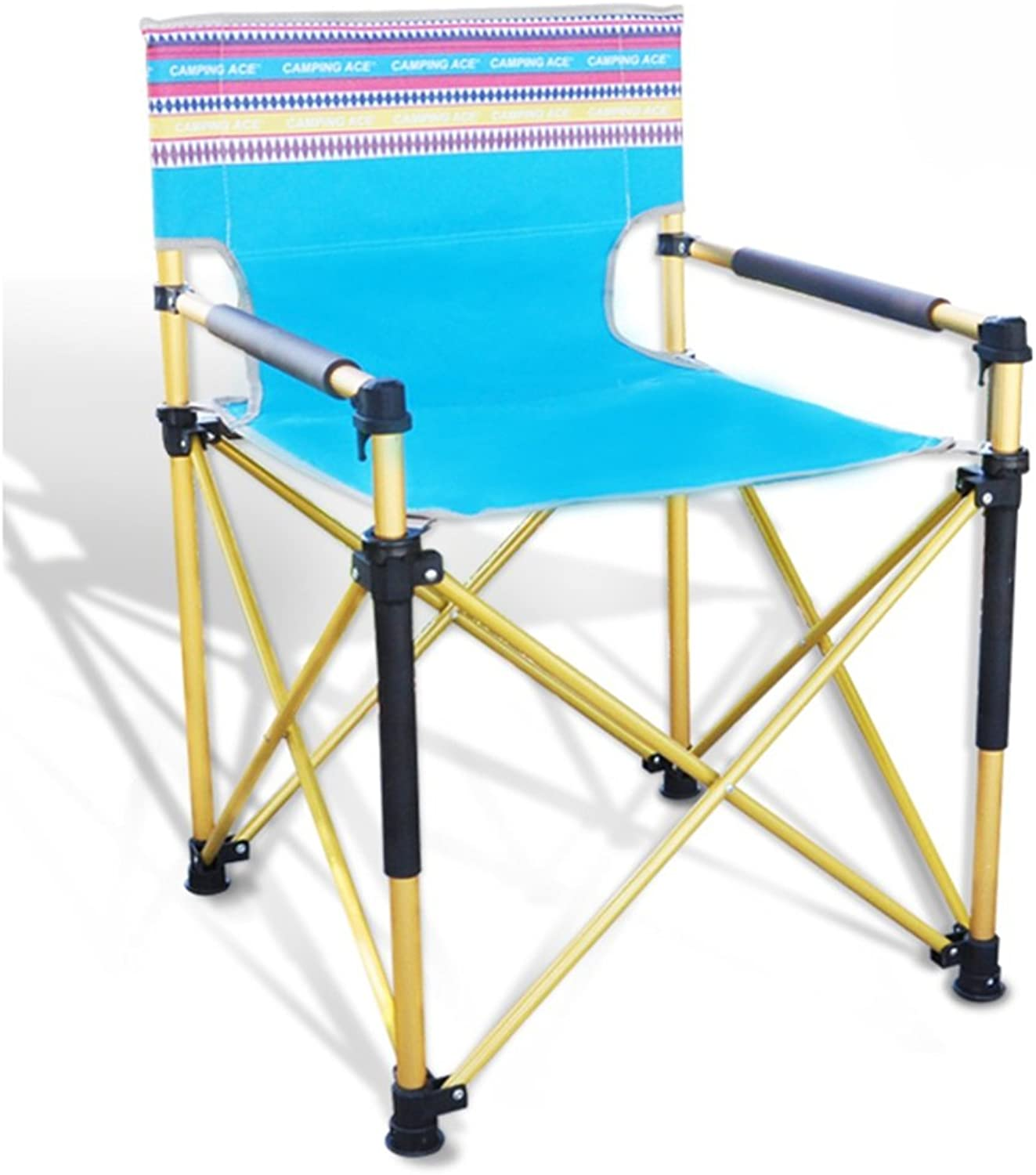 ZGL Outdoors Outdoor Folding Chair Fishing Chair Drawing Executive Director Chair Beach Leisure Chair Backrest Chair color Optional
