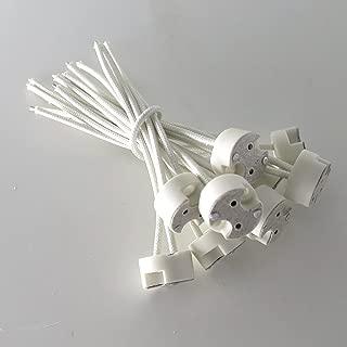 Smartlive 100 pcs pack G8 wire connector socket LED light bulb Ceramic wire connector base socket adapter Retrofit Hot Halogen bulb