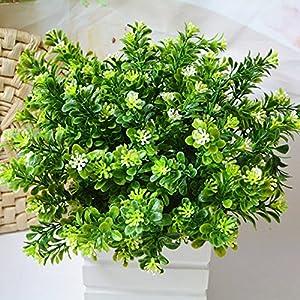 Huhuswwbin – Planta artificial de hojas falsas para interiores y exteriores, herramienta de decoración de jardín