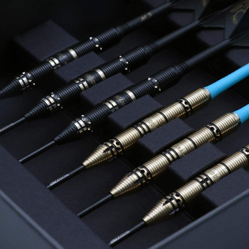 Metal Professional Steel Tip Darts Set 21 Grams with 6pcs AK5 Plastic Integrated Flights CUESOUL Jazz