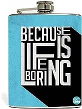 أكسسوارات قضيب ستانلس ستيل على شكل Hip Flask من شركة Designer - حافظة - لسبب الحياة في حالة تثبيت اللون الأزرق