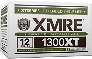 XMRE Meals 1300XT - 12 Case with Heaters (Meal Ready to Eat - Military Grade) New Fresh Dates Meals 1300XT-12 Case w/OE Guide Book